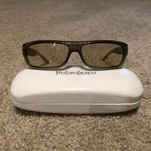 Yves Saint Laurent Womens Sunglasses - Brown